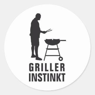 grill master round sticker