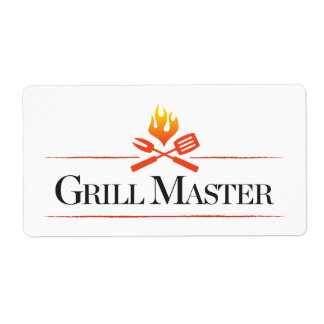 Grill Master Shipping Label