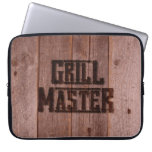 Grill Master Western Branding Iron on Wood Laptop Computer Sleeve