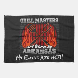 Grill Masters Are Born In Arkansas Add A Slogan Kitchen Towel