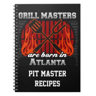 Grill Masters Are Born In Atlanta Personalized Note Book