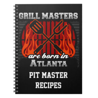 Grill Masters Are Born In Atlanta Personalized Notebook