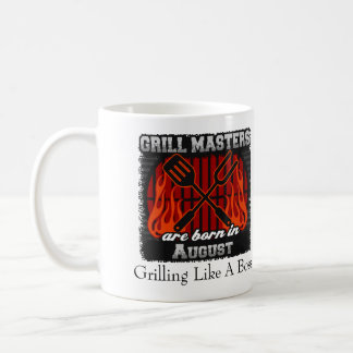 Grill Masters are Born in August Add A Slogan Coffee Mug