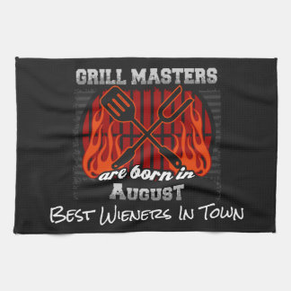 Grill Masters Are Born In August Add A Slogan Kitchen Towel