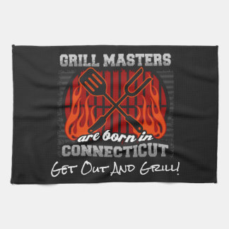 Grill Masters Are Born In Connecticut Add A Slogan Kitchen Towel