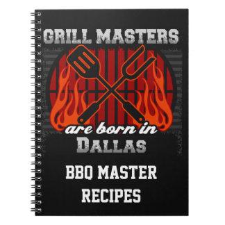 Grill Masters Are Born In Dallas Texas Spiral Notebooks
