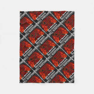Grill Masters Are Born In December BBQ Birthday Fleece Blanket
