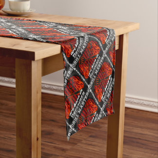 Grill Masters Are Born In December BBQ Birthday Short Table Runner