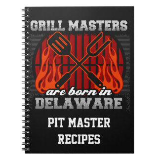 Grill Masters Are Born In Delaware Personalized Notebook
