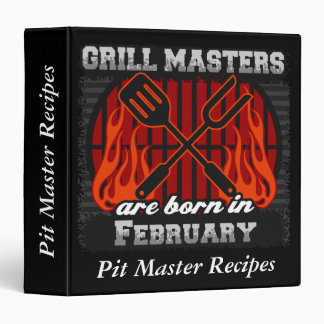 Grill Masters Are Born In February Personalized Binder