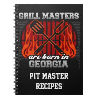 Grill Masters Are Born In Georgia Personalized Spiral Note Book