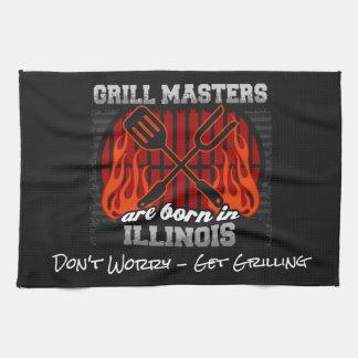Grill Masters Are Born In Illinois Add A Slogan Kitchen Towel