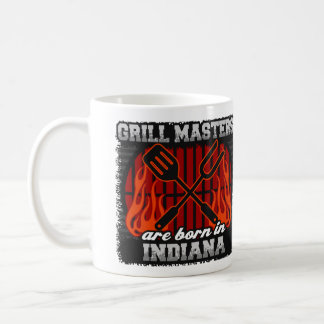 Grill Masters are Born in Indiana Coffee Mug
