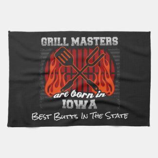 Grill Masters Are Born In Iowa Add A Slogan Kitchen Towel