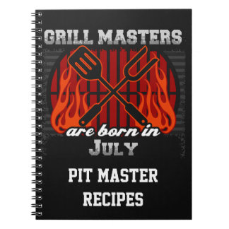 Grill Masters Are Born In July Personalized Notebooks
