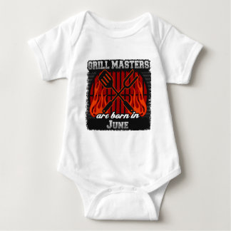 Grill Masters are Born in June Baby Bodysuit