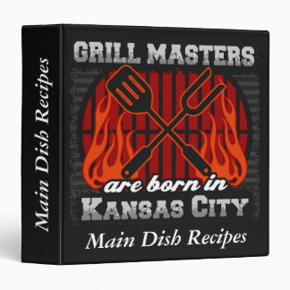 Grill Masters Are Born In Kansas City Missouri 3 Ring Binder