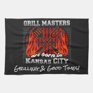 Grill Masters Are Born In Kansas City Missouri Kitchen Towel