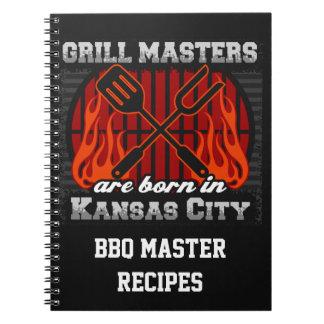 Grill Masters Are Born In Kansas City Missouri Spiral Note Books