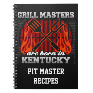 Grill Masters Are Born In Kentucky Personalized Notebook
