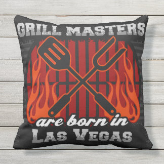 Grill Masters Are Born In Las Vegas Nevada Outdoor Pillow