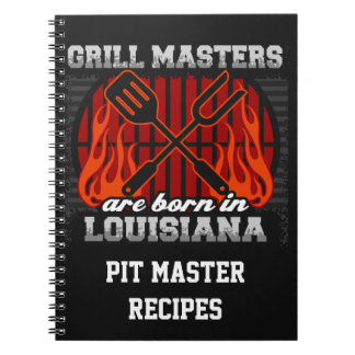 Grill Masters Are Born In Louisiana Personalized Notebook