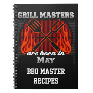 Grill Masters Are Born In May Personalized Notebooks