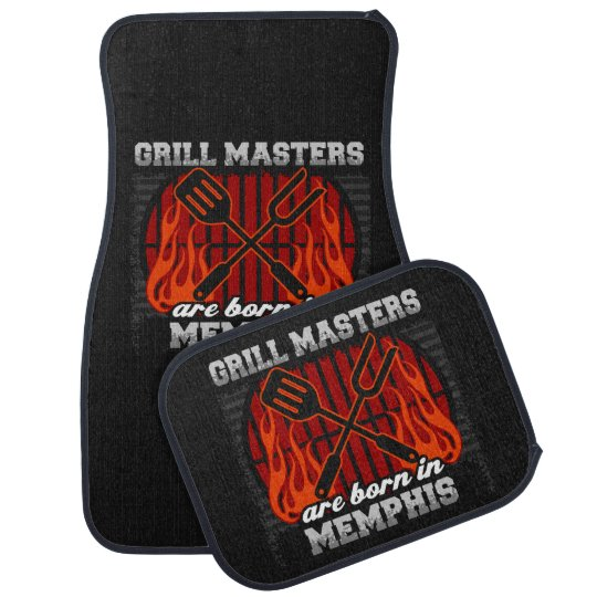 Grill Masters Are Born In Memphis Tennessee Floor Mat