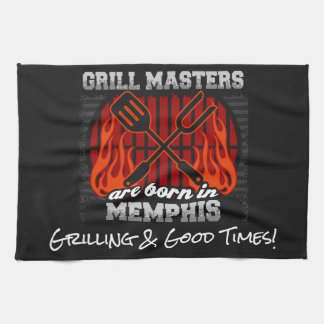 Grill Masters Are Born In Memphis Tennessee Kitchen Towel