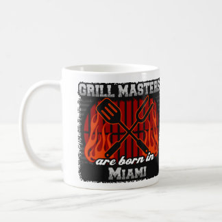 Grill Masters Are Born In Miami Florida Coffee Mug