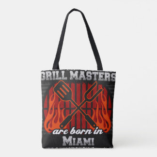 Grill Masters are Born in Miami Florida Tote Bag
