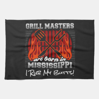 Grill Masters Are Born In Mississippi Add A Slogan Kitchen Towel