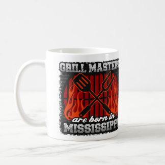 Grill Masters are Born in Mississippi Coffee Mug