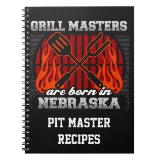 Grill Masters Are Born In Nebraska Personalized Note Books