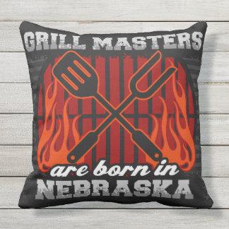 Grill Masters Are Born In Nebraska Throw Pillow