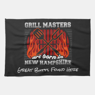 Grill Masters Are Born In New Hampshire Any Slogan Kitchen Towel
