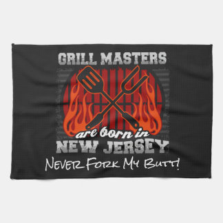 Grill Masters Are Born In New Jersey Add A Slogan Kitchen Towel