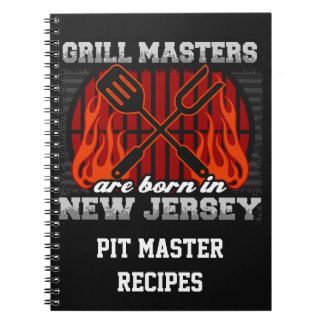 Grill Masters Are Born In New Jersey Personalized Notebook
