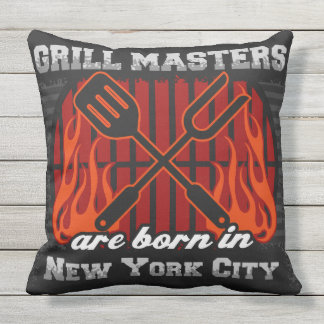Grill Masters Are Born In New York City Throw Pillow