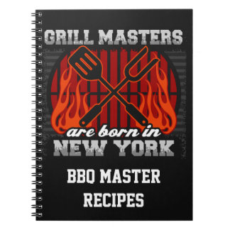Grill Masters Are Born In New York Personalized Note Book