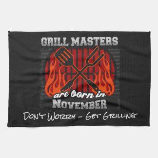 Grill Masters Are Born In November Add A Slogan Kitchen Towel