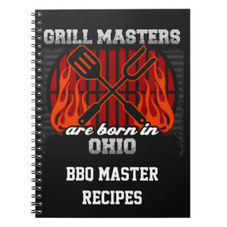 Grill Masters Are Born In Ohio Personalized Notebook