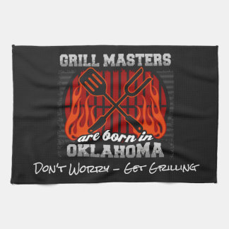 Grill Masters Are Born In Oklahoma Add A Slogan Kitchen Towel