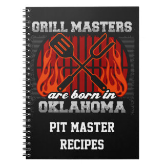 Grill Masters Are Born In Oklahoma Personalized Note Book