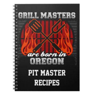 Grill Masters Are Born In Oregon Personalized Note Book
