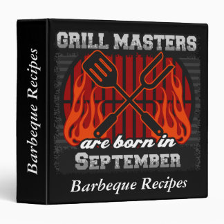 Grill Masters Are Born In September Personalized 3 Ring Binder