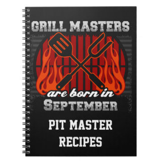 Grill Masters Are Born In September Personalized Note Books