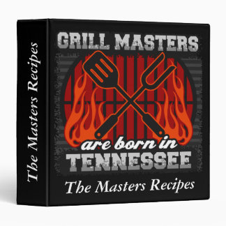 Grill Masters Are Born In Tennessee Personalized Binders