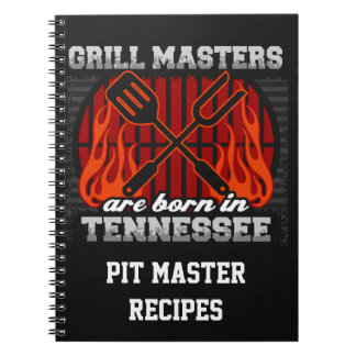 Grill Masters Are Born In Tennessee Personalized Notebooks