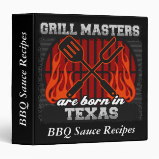 Grill Masters Are Born In Texas Personalized Binder